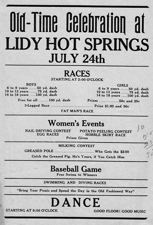 Lidy Hot Springs Dance Ad