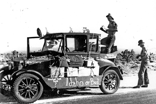 "Model T Ford - ""Idaho or Bust!"""