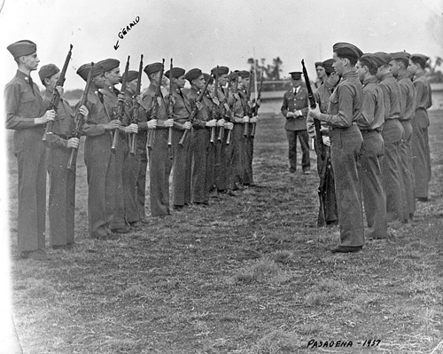 ROTC - Red Crown Unit - Pasadena, 1937