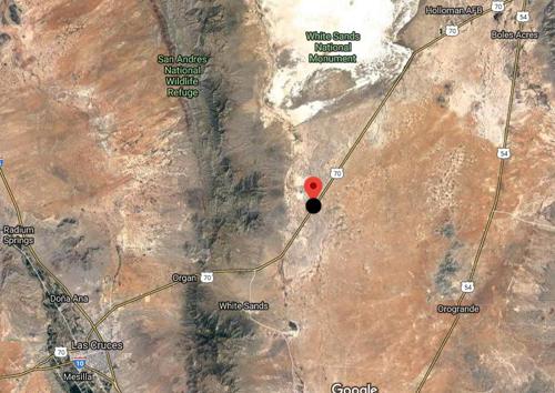 Location Where Colonel Albert J. Fountain was ambushed